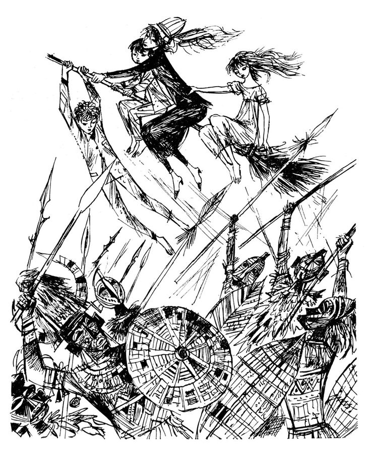 Illustration by Jan Marcin Szancer; Author: Mary Norton; Title: Gałka od łóżka