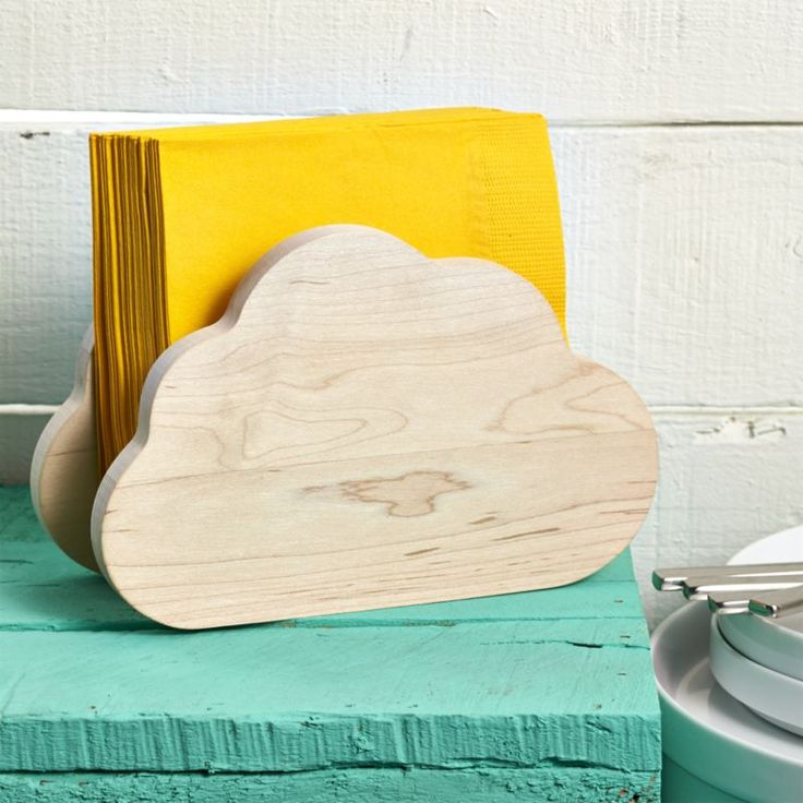 Cricut Inspiration - Using Cricut Explore Cut Simple Cloud Shapes Out Of Balsa Wood and Make A Napkin Holder