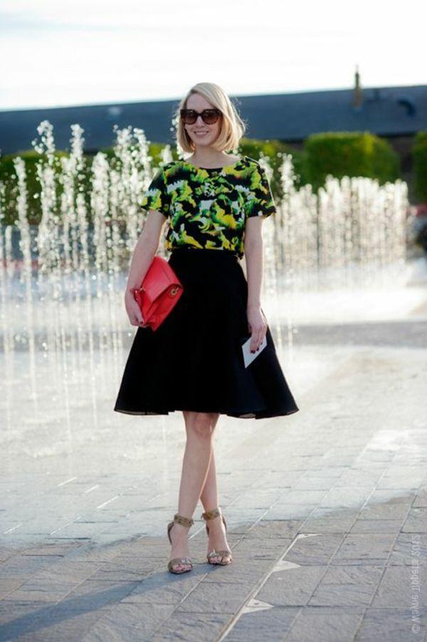 La jupe corolle pour une silhouette avec auréole – Outfit