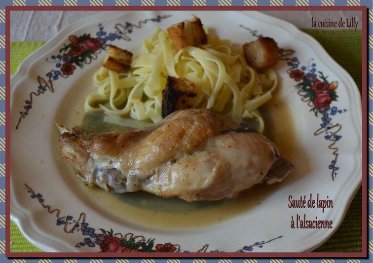 """""""Sauté de lapin à l'alsacienne... - La cuisine de Lilly"""