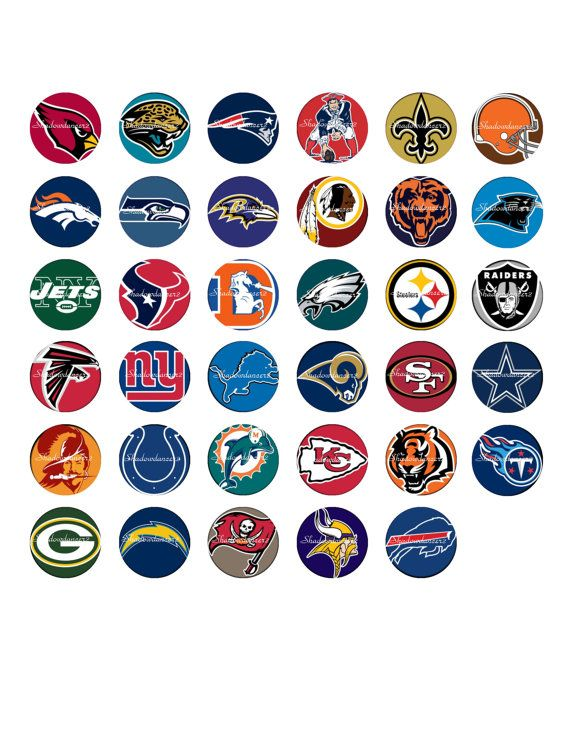 nfl football logos printable digital collage by shadowdancer2 300