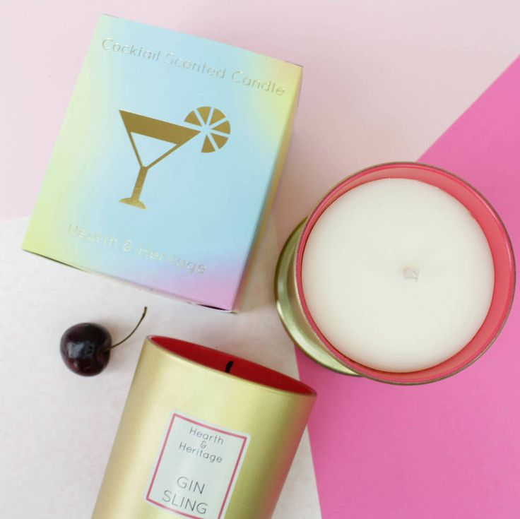 Gin Sling Cocktail Scented Candle Gift