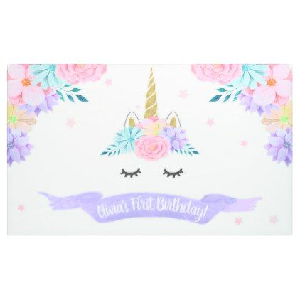 unicorn face birthday banner backdrop trendy gifts template