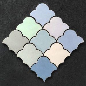 """Марокканская плитка ручной работы """"Лотос"""". Прима Керамика."""
