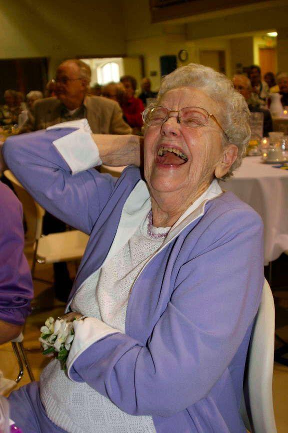 Alvera Johnson Mickelsen's 90th Birthday.  She had a good time.
