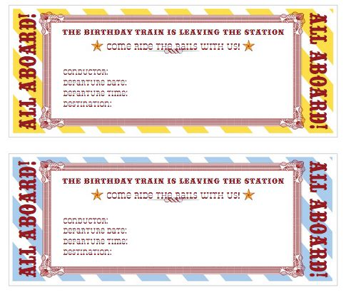 49 best steam train party!! images on Pinterest Birthdays, Train - party ticket template free