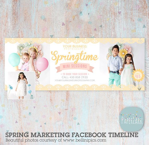 Spring Phtoography Facebook Timeline  by PaperLarkDesigns on Etsy