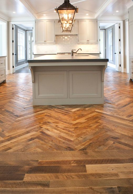 herringbone kicthen floor | floor, herringbone wood floor, light gray cabinets, light gray kitchen ...