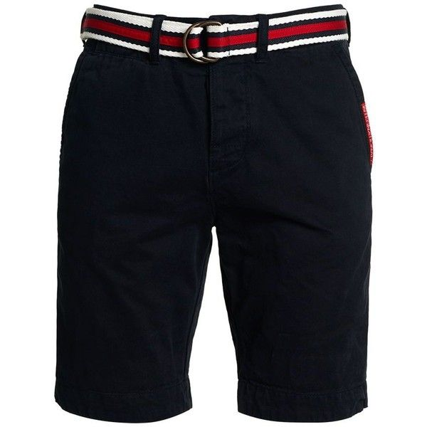 Superdry International Chino Shorts ($62) ❤ liked on Polyvore featuring men's fashion, men's clothing, men's shorts, sale men shorts, mens chino shorts, superdry mens shorts, mens shorts, mens clothing and men's apparel