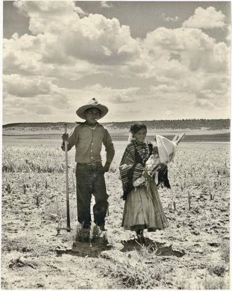 Navajo family near Ramah, New Mexico - circa 1940