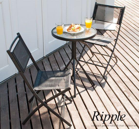【送料無料】ガーデンテーブル&チェアー3点セットアジアンカフ...|エアリゾーム【ポンパレモール】