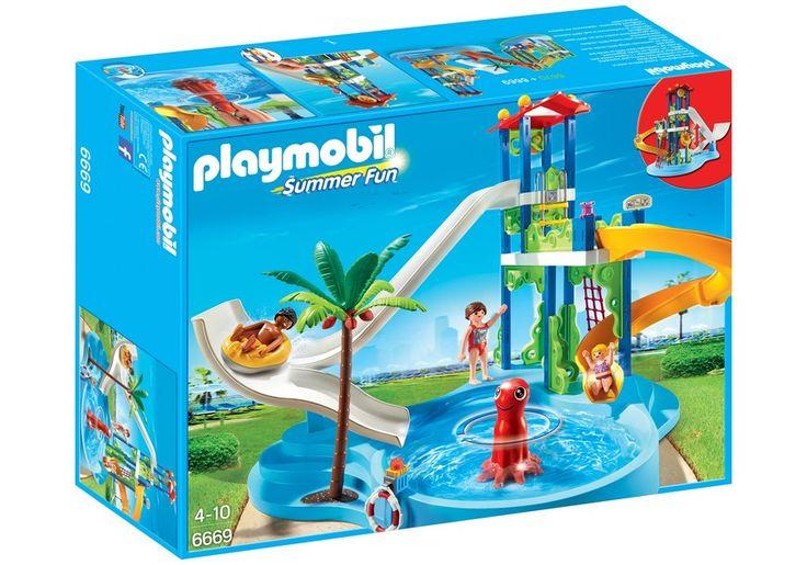 PLAYMOBIL 6669 - TORRE DEGLI SCIVOLI CON PISCINA - Disponibile in pronta consegna su Vendiloshop.it #playmobil #offerte #giocattoli #vendiloshop