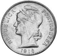 50 centavos, 1912, é a moeda mais antiga da Primeira República.