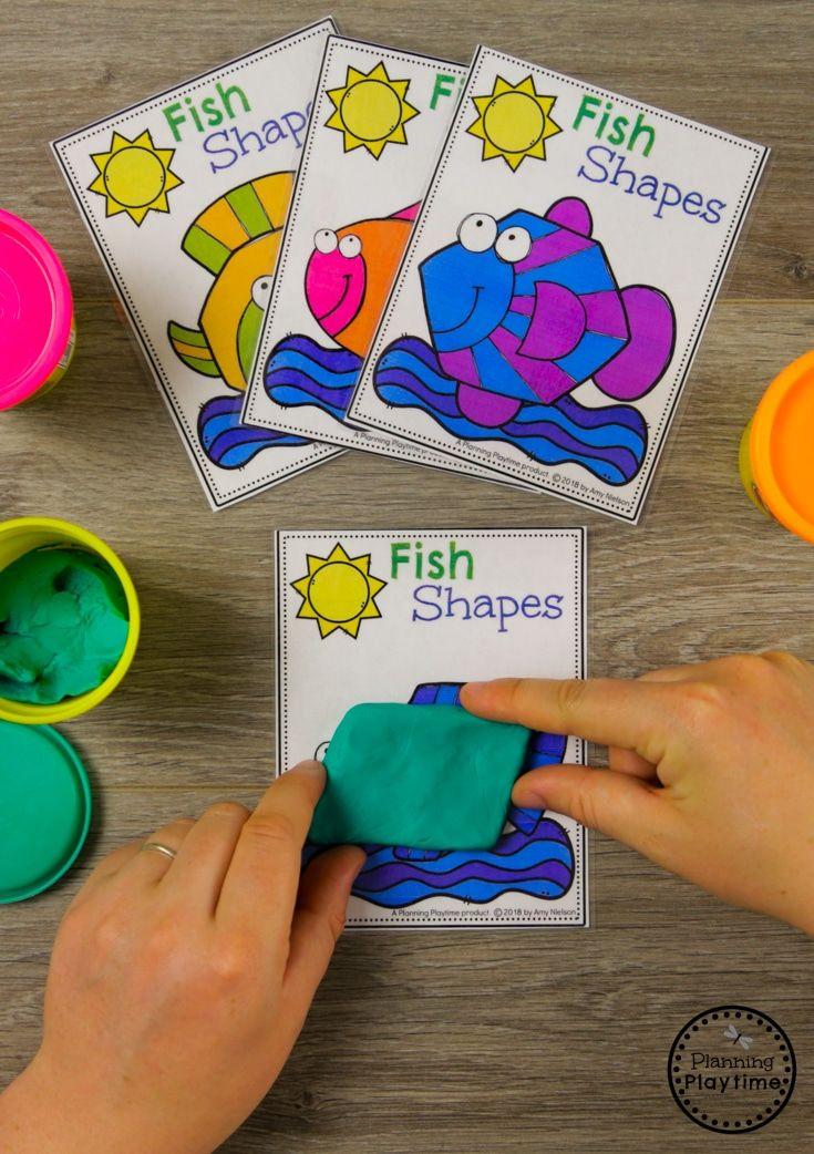 Fun Preschool Shapes Activity For An Ocean Theme Shapes
