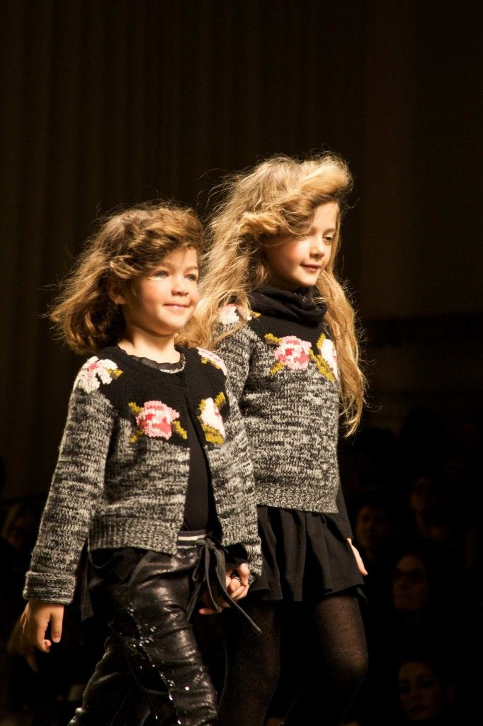 Signature intarsia flower knitwear for kids fall 2014 from Twin-Set Girl