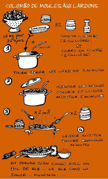 Tambouille - Colombo de moules aux lardons