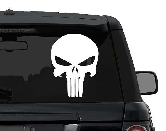 Unique Punisher Skull Decal Ideas On Pinterest Punisher - Create car decalsanime decal etsy