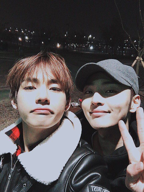 Taehyung and Kim Min Jae