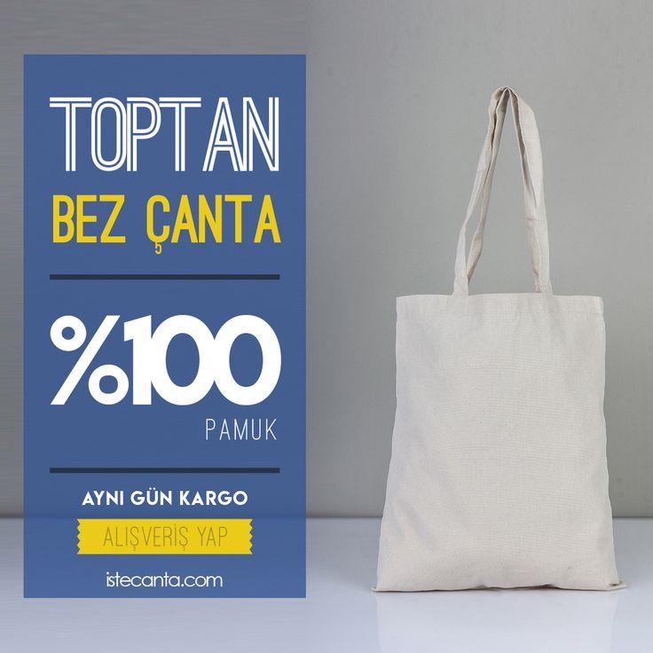 Hafta içi web sitemizden vereceğiniz tüm siparişleriniz aynı gün kargoda! istecanta.com #bezcanta #beztorba #hambez #rips #panama #kanvas #toptan #totebag