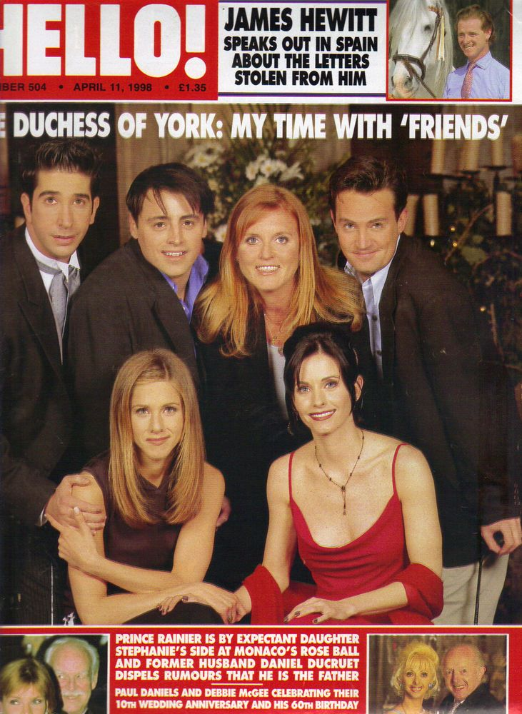 Sarah Ferguson Jennifer Aniston Friends UK Hello Mag 4 11 96 504 Jane Seymour   eBay