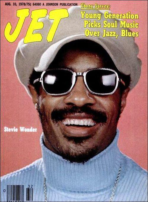 Stevie Wonder on Jet magazine. August 1978.