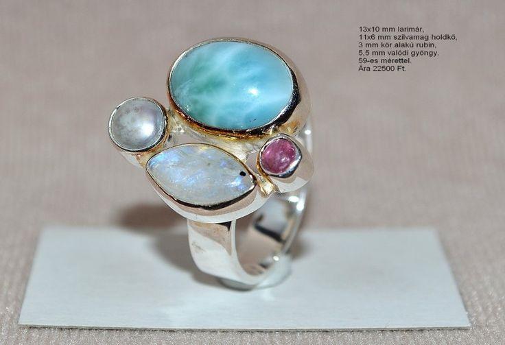 Larimar gyűrű