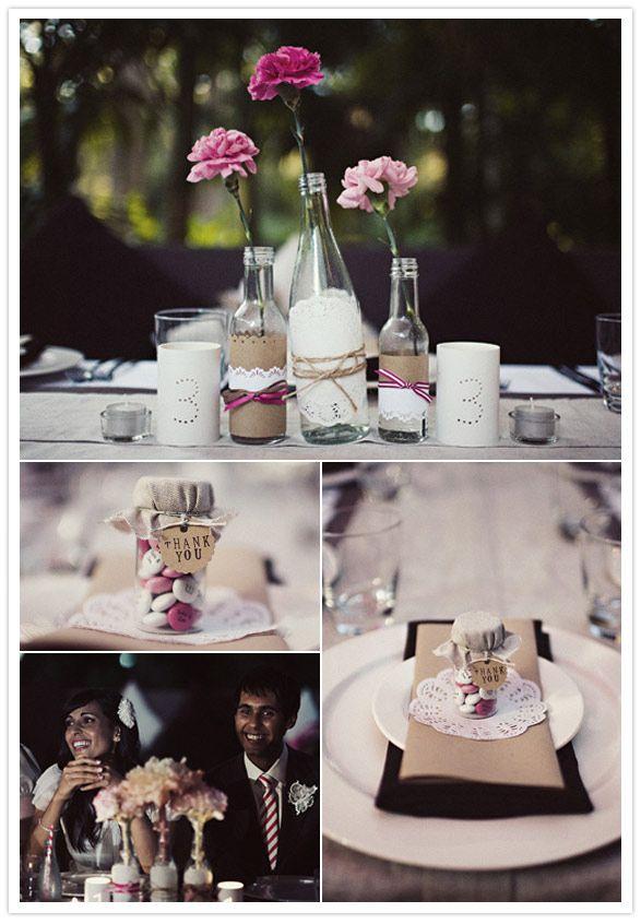DIY Tischdeko im Scrapbook Style » stylehäppchen.ch | Der Schweizer Hochzeitsblog