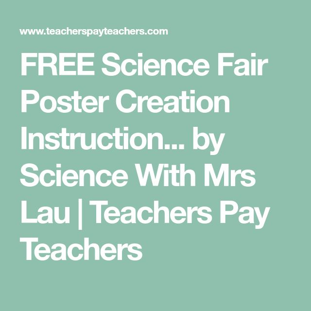 FREE Science Fair Poster Creation Instruction... by Science With Mrs Lau | Teachers Pay Teachers