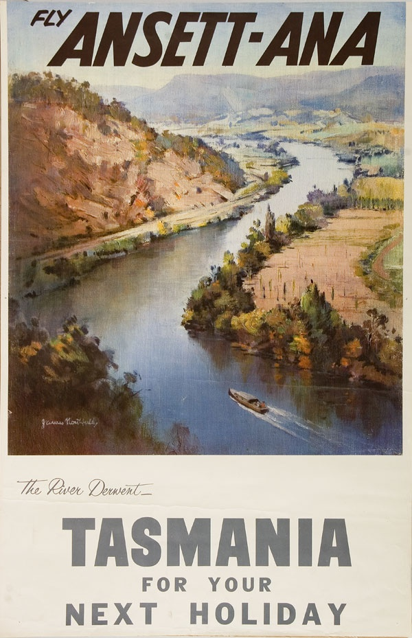 Poster - Fly Ansett-ANA to Tasmania for your next holiday