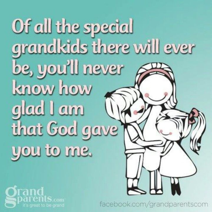 We love all our grandchildren equally - they are all precious blessings from God...