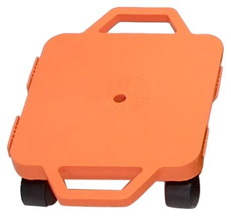 Cosom 12 Inch Plastic Childrens Scooter Board With 2 Inch NonMarring Nylon Casters and Safety Guards for Physical Education Class with Safety Handles Sitting Scooter Board Orange ** You can get additional details at the image link.