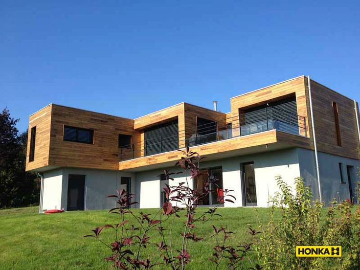 Honka Fusion home in France. Honka log homes.