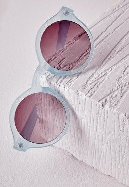 YL Lunettes De Soleil Transparentes Frameless , Jelly Powder,jelly powder
