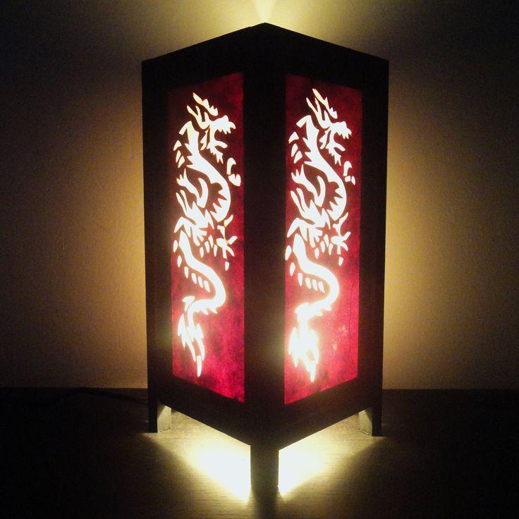 Aziatische Oosterse Yakuza Japanse draak Lamp door marwincraft