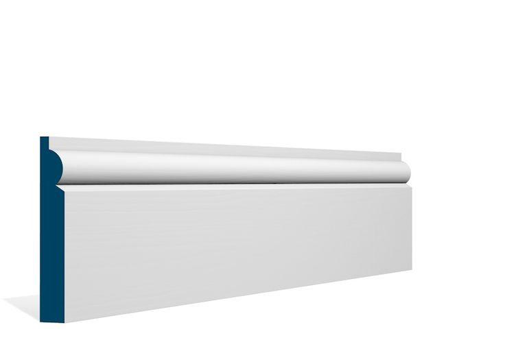 19 x 119mm PRE-PAINTED Wood Torus Skirting - WHITE (5x2.4m)