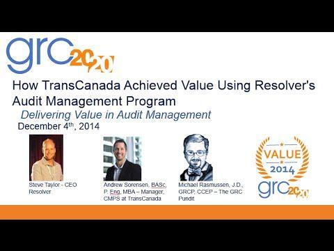 Webinar: How TransCanada Achieved Value Using Resolver's Audit Management Program » Resolver #GRC2020 https://www.youtube.com/watch?v=dOitisms7uo&feature=youtu.be