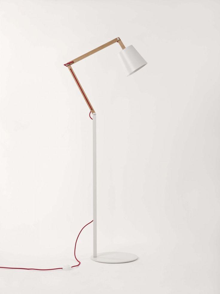 Powder white Angle floor lamp 2.0 by Workroom - Douglas + Bec