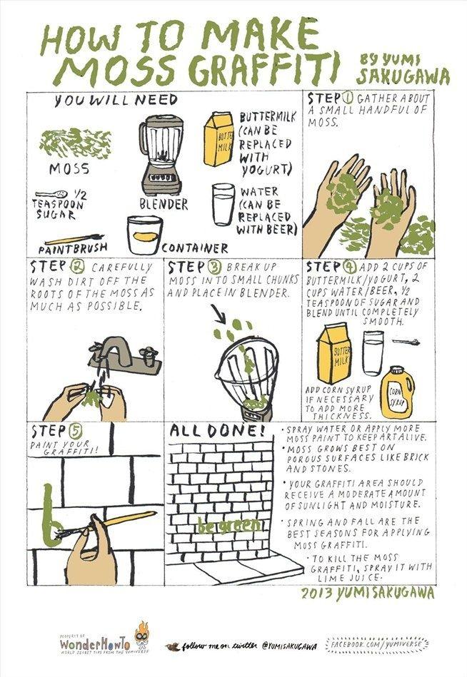 How to make Moss Graffiti....