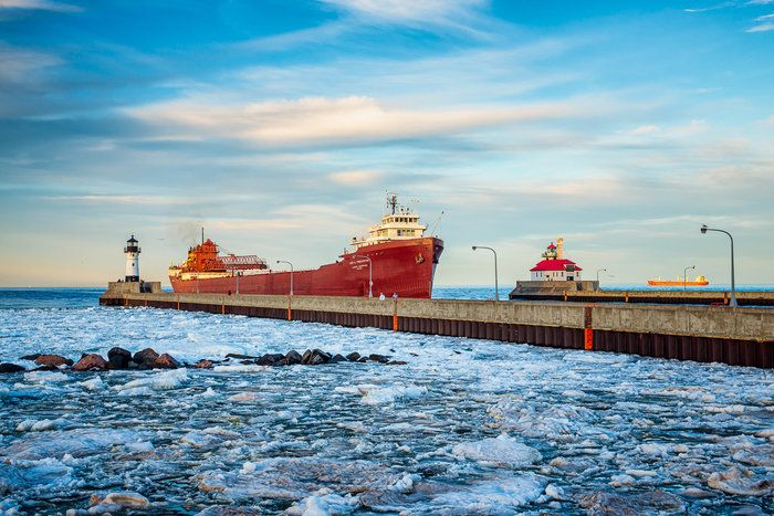 Ship Arrival in Duluth's Harbor by Susanne von Schroeder on Capture Minnesota. This is the USS Lee A. Tregurtha arriving in Duluth. 2014-05-27; Duluth MN.