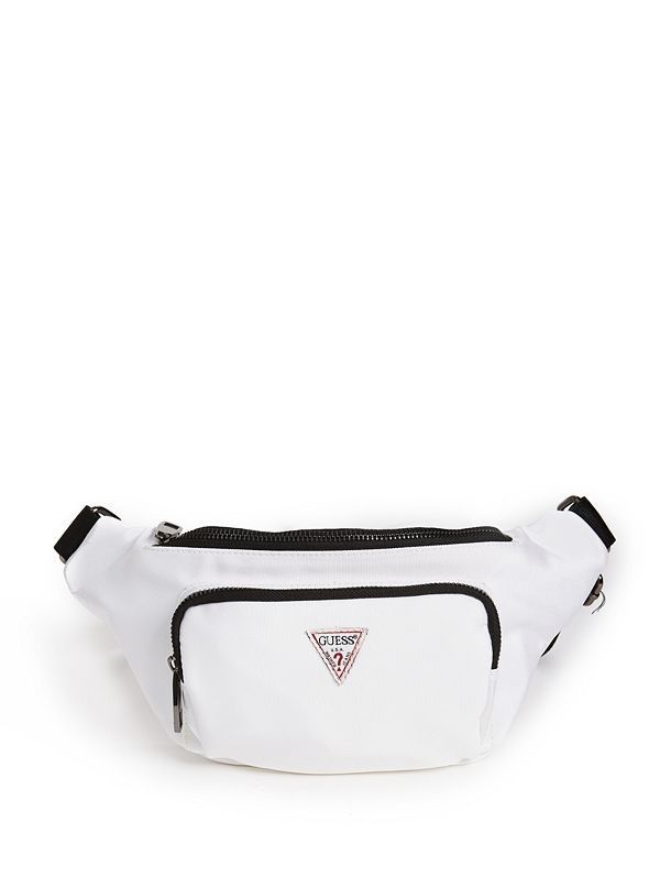12e26f692997 Logo Belt Bag | Carry all your essentials with this canvas fanny pack,  featuring a front logo detail, a front zipped pocket and a top zipper  closure