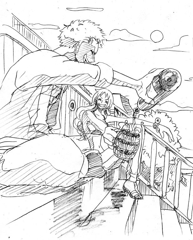 Nami and Zoro. The only two that can hold their liquor