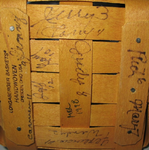 Rare Amp Valuable Signatures Of All 11 Of Dave Longaberger