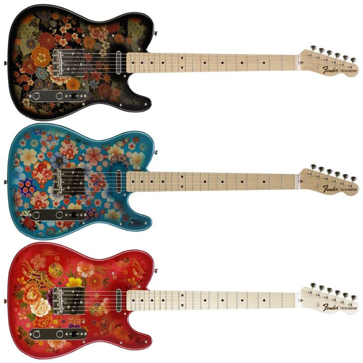Guitar Blog: Fender Japan Floral Print Telecasters - a modern take on the Paisley and Blue Flower designs