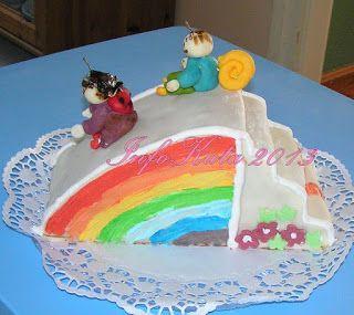 TortáIM: Bogyó és Babóca - A szivárványcsúszda torta