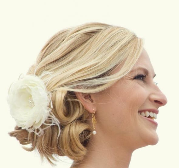 Looking to see short hair styled brides or their inspiration pics :  wedding Hairstyle Wedding 2012 3