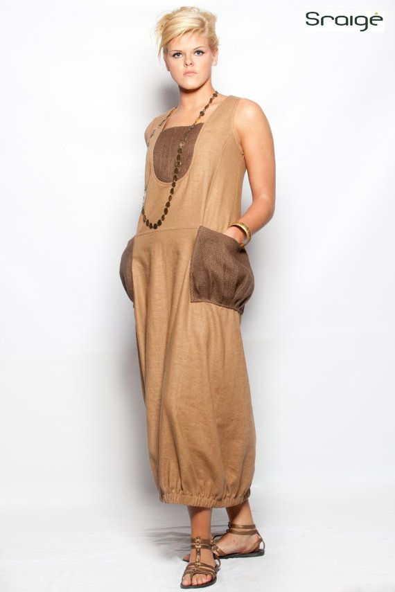 Hey, I found this really awesome Etsy listing at https://www.etsy.com/listing/99144580/long-linen-dress-with-burlap-pockets