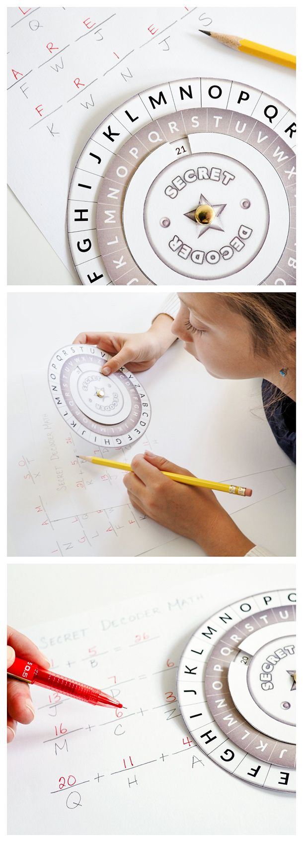 Use this FREE printable decoder wheel to send & receive secret messages without anyone being the wiser. A great resource for teachers and homeschoolers for spelling practice, math, writing activities, word work, etc. Also makes a wonderful addition to spy theme parties.: