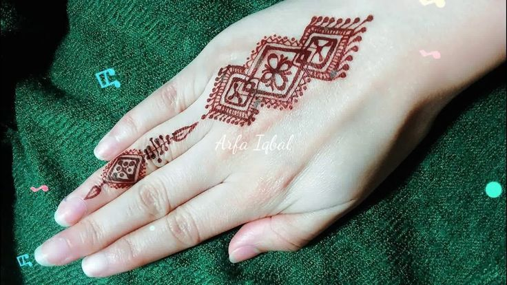 DIY Easy Mehendi Design for Fingers Tutorial #13 – Henna Temporary Tattoo!,  #Design #DIY #di…