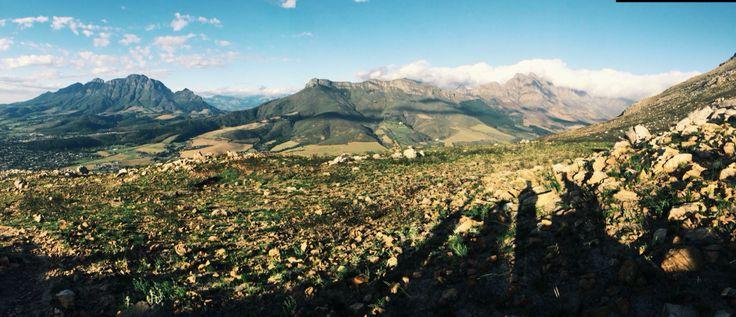 View from half way up Stellenbosch Mountain #stellenbosch
