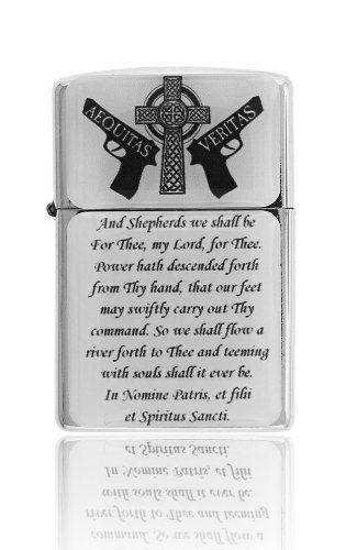 Boondock Saints Prayer Zippo Lighter Crystal Coated @ niftywarehouse.com #NiftyWarehouse #BoondockSaints #NormanReedus #Film #Movies #CultMovies #CultFilms